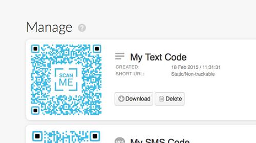 Enregistrez et imprimez le code